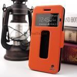 เคส Lenovo K5 / K Plus รูดรับสาย ตรงรุ่น 100% หนัง เกรด A สีส้ม