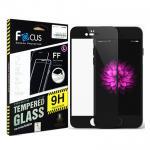 ฟิล์มกระจกนิรภัยขอบสี เต็มจอลงโค้ง !!!!! Focus For iPhone 7 สีดำ