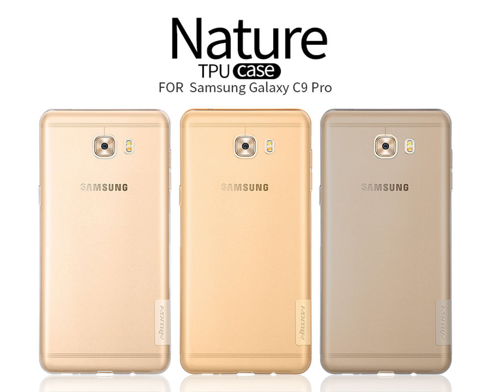 Nillkin Nature Slim Clear TPU Case Cover for Samsung Galaxy C9 Pro