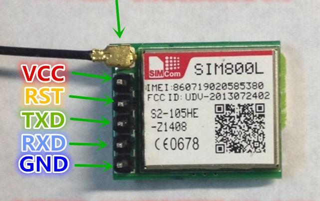 SIM800L Module (Smallest GSM module in the world)