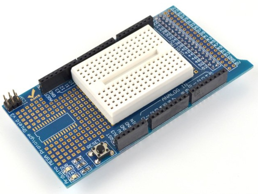 MEGA Protoshield+mini breadboard