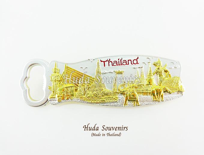 ของที่ระลึกไทย ที่เปิดฝาขวด ลวดลายเอกลักษณ์ไทย ปั้มลายเนื้อนูน ด้านหลังเป็นแม่เหล็กติดตู้เย็น สินค้าบรรจุในกล่องมาให้เรียบร้อย สินค้าพร้อมส่ง