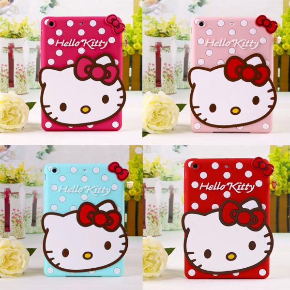 - เคส ซิลิโคน Apple iPad Mini 1/2/3 ลาย Kitty มี 2 สี แดง บานเย็น
