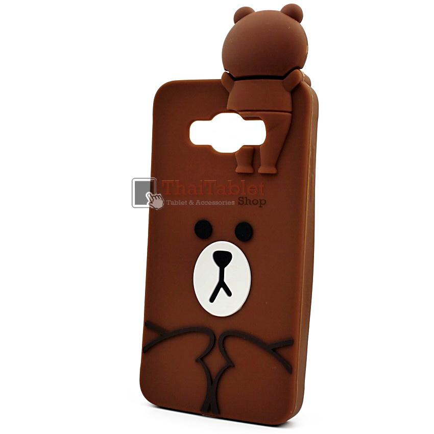 เคสยางครอบหลังหมี Brown Samsung Galaxy J5 V.2 ( 2016 ) สำเนา