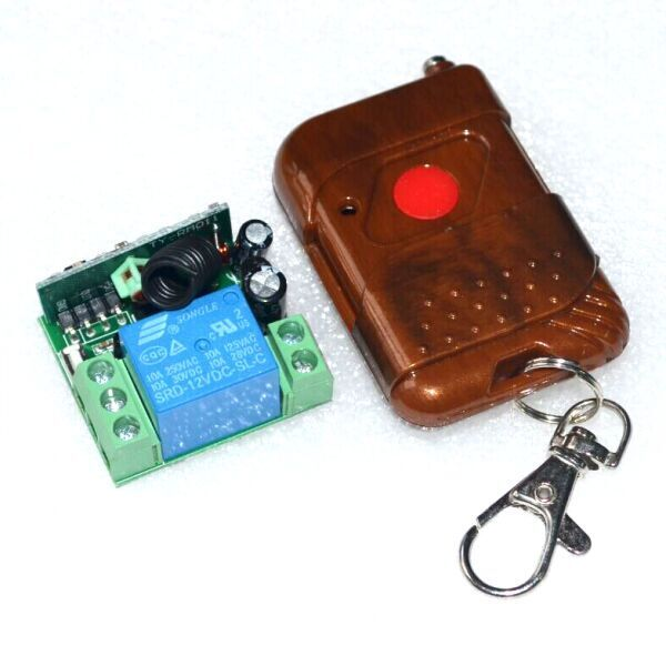 12V Relay Module with Wireless Remote Control (แถมกล่องใส่ Relay Module)
