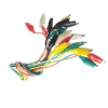 Alligator clips + Wires 50cm จำนวน 10 คู่