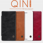 NILLKIN Thin Qin PU Leather Flip Pouch Cover Case For Sony Xperia X