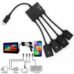 - 4 Port Micro USB Power Charging OTG Hub Cable For Android & Windows Tablet Smartphone