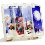 "- Case TPU ครอบหลัง iPhone 5/5s/5se X'mas ฟรุ้งฟริ้งหิมะตก ""Ho Ho Hoo Merry Christmas"""