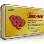 หลินจือมิน LINHZHIMIN เห็ดหลินจือสายพันธุ์สีแดงสกัดในซอฟเจล