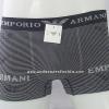 กางเกงในชาย Emporio Amani Boxer Briefs : สีดำ ลายขวาง