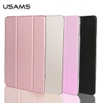USAMS Leather Slim Auto Sleep Case Transparent Smart Cover Stand F iPad Pro 12.9