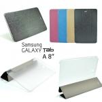 """เคส Samsung Tab A 8 """" รุ่น Luxury ปกผ้าไหม หลังใส"""