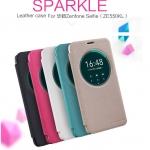 """เคส Asus Zenfone 2 Laser 5.5"""" ZE550KLLeather Case Sparkle NILLKIN แท้"""