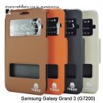 เคส Samsung Galaxy Grand 3 G7200 รุ่น 2 ช่อง รูดรับสาย Premuim Case By Happy