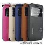 เคส Samsung Galaxy A8 รุ่น Business Case โชว์เบอร์ หนังเกรด A