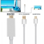 1M For iPhone Cable Connector To HDMI TV AV Cable Adapter For iPad Mini iPhone 6
