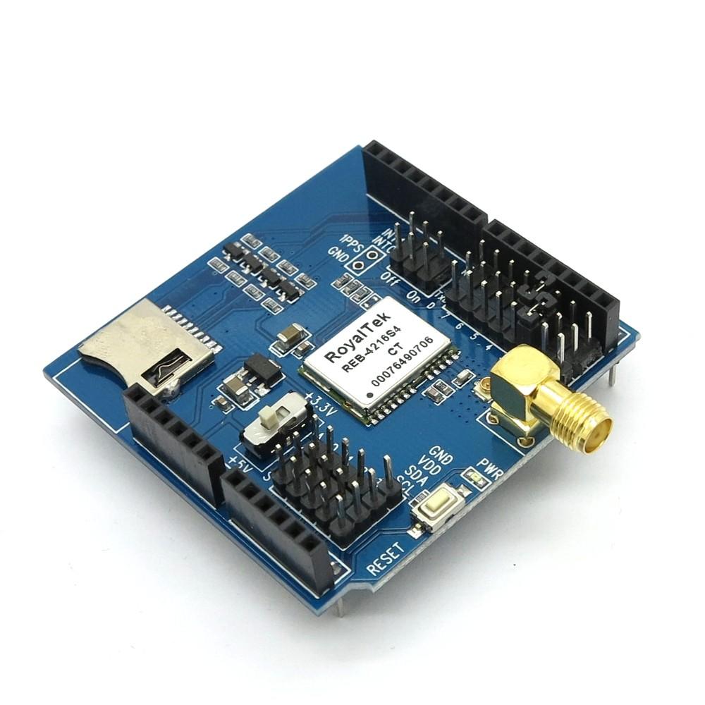 GPS Shield + Active Antenna ยาว 3เมตร ยี่ห้อ Itead Studio