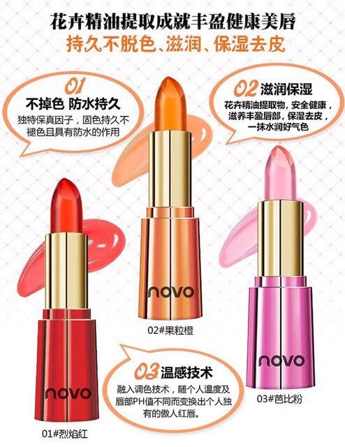 Organic Transparent Novo Lipstick Crystal ลิปออแกนิคเจลลี่ ให้ความชุ่มชื่นดูสุขภาพดี โนโว ลิปเปลี่ยนสีกลิ่นหอมๆ Jelly
