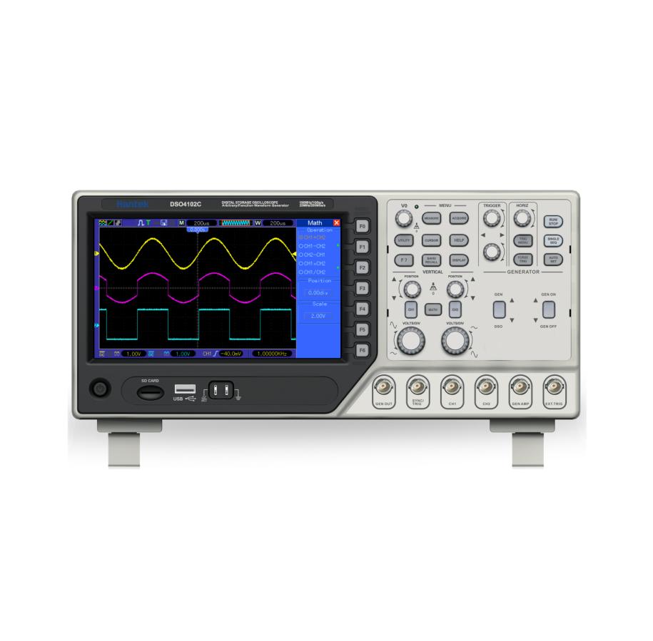 Hantek DSO4000C / 2Channel Digital Oscilloscope + Arbitrary/Function Waveform Generator